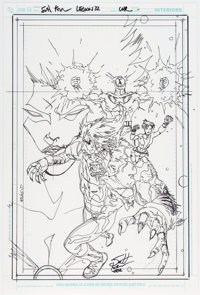 Scott Kolins The Brave and the Bold #15 and Legion of Super-Heroes Timber Wolf Preliminary... (Total: 2 Original Art)