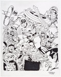 Original Comic Art:Illustrations, George Tuska Captain America Illustration Original Art (c. 1990s)....