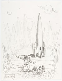 Al Feldstein - Rocketship Illustration Original Art (2006)
