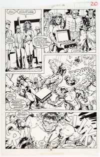 Jeff Purves and Marie Severin The Incredible Hulk #361 Story Page #20 Original Art (Marvel Comics, 1989)