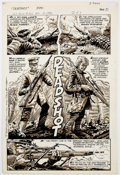 Original Comic Art:Complete Story, Steve Bissette Sgt. Rock #323 Complete 3 Page Story Original Art (DC Comics, 1978).... (Total: 3 Original Art)