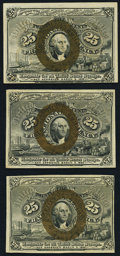 Fractional Currency:Second Issue, Fr. 1285 25¢ Second Issue Extremely Fine;. Fr. 1286 25¢ Second Issue Extremely Fine;. Fr. 1288 25¢ Second Issue Extrem... (Total: 3 notes)