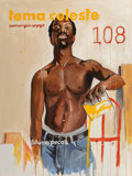 Paintings:Contemporary   (1950 to present), Fahamu Pecou (American, b. 1975). Libations. Acrylic and oil on canvas. 48 x 36 inches (121.9 x 91.4 cm). Signed lower c...