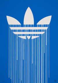 Zevs (French, b. 1977) Liquidated Adidas, 2012 Screenprint in colors on Arches 88 paper 27-1/2 x
