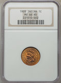 Proof Indian Cents, 1909 1C MS66 Red NGC. Snow-PR1. In a circa-2000 holder. NGC Census: (10/0). PCGS Population: (20/2). PR66. Mintage 2,175....