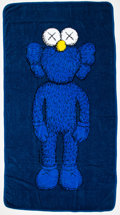 Collectible:Contemporary, KAWS X AllRightsReserved. Companion Beach Towel (Navy) (two works), 2016. Cotton towels. 67 x 35-1/2 inches (170.2 x 90.... (Total: 2 Items)