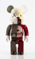 Collectible:Contemporary, KAWS X BE@RBRICK. Dissected Companion 400% and 100% (two works), 2008. Painted cast vinyl. 10-3/4 x 5 x 3-1/2 inches (27... (Total: 2 Items)