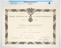 Explorers:Space Exploration, Giant Leap World Tour, 10/07 (Paris): French National Order of the Legion of Honor Award Certificate Directly From The Arm...