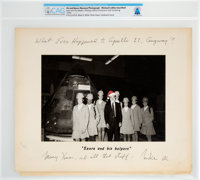 Michael Collins Humorous 1970s Christmas Gift to Neil Armstrong Directly From The Armstrong Family Collection™, CAG Cert...