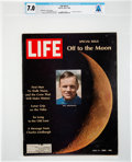 "Explorers:Space Exploration, Neil Armstrong's Personal Copy of the July 4, 1969, LIFE Magazine, a Special Issue ""Off to the Moon"" with His Phot..."