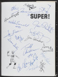 Football Collectibles:Publications, Oakland Raiders SUPER! Multi-Signed Book (81 Signatures)....