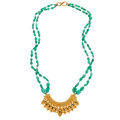 Estate Jewelry:Necklaces, Emerald, Rock Crystal Quartz, Gold Necklace. ...
