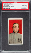 Baseball Cards:Singles (Pre-1930), 1909-11 T206 Old Mill Ty Cobb (Red Portrait) PSA EX-MT 6. ...