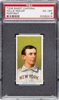 Baseball Cards:Singles (Pre-1930), 1909-11 T206 Sweet Caporal 350/30 Willie Keeler (With Bat) PSA EX-MT 6. ...