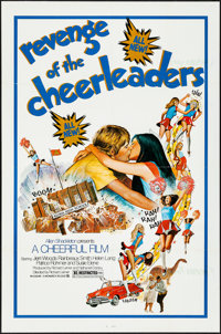 """Revenge of the Cheerleaders & Other Lot (Monarch, 1976). Folded, Very Fine-. One Sheets (3) (27"""" X 41""""..."""