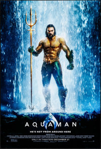 "Aquaman (Warner Brothers, 2018). Rolled, Near Mint. One Sheet (27"" X 40"") DS Advance. Action"