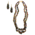 Estate Jewelry:Suites, Multi-Color Sapphire, Yellow Metal Jewelry Suite. ... (Total: 2Items)