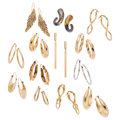 Estate Jewelry:Earrings, Glass, Gold Earrings. ... (Total: 13 Items)