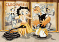 Animation Art:Production Drawing, Hoochie Cootchie Betty Boop and Popeye Painting by Toby Bluth (Hearst Holdings/Fleischer Studios, 2005). ...