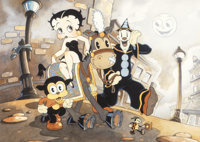 Beautiful Morning Betty Boop and Friends by Toby Bluth Giclee on Paper Printer's Proof #4/15 (Hearst Holdings/Fleische...