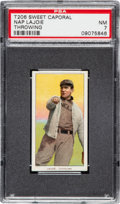 Baseball Cards:Singles (Pre-1930), 1909-11 T206 Sweet Caporal-649 Overprint Napoleon Lajoie (Throwing) PSA NM 7. ...