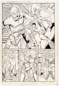 Original Comic Art:Panel Pages, Keith Giffen and Joe Rubinstein Justice League International#22 Story Page 5 Original Art (DC Comics, 1988). ...