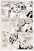 Original Comic Art:Panel Pages, Ric Estrada and Dick Giordano World's Finest #265 Page 5Original Art (DC Comics, 1980)....