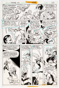 Original Comic Art:Panel Pages, Ric Estrada and Joe Staton Karate Kid #1 Story Page 4 Original Art (DC Comics, 1976)....