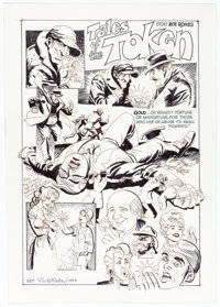 Ric Estrada Tales of the Token Unpublished Group of 2 Panel Pages Original Art (1993).... (Total: 2 Original Art)