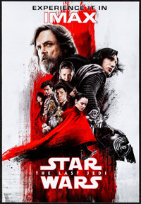 "Star Wars: The Last Jedi (Walt Disney Studios, 2017). Rolled, Very Fine/Near Mint. IMAX Poster (13"" X 19""). Sc..."