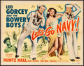"Movie Posters:Comedy, Let's Go Navy! (Monogram, 1951). Folded, Fine/Very Fine. Half Sheet (22"" X 28""). Comedy.. ..."