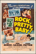 "Movie Posters:Rock and Roll, Rock, Pretty Baby (Universal International, 1957). Folded, Fine/Very Fine. One Sheet (27"" X 41""). Rock and Roll.. ..."