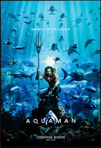 "Aquaman (Warner Brothers, 2018). Rolled, Very Fine+. One Sheet (27"" X 40"") DS Advance. Action"