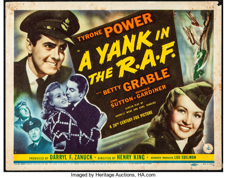 Image result for grable and power in a yank in the raf