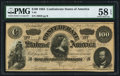 Confederate Notes:1864 Issues, T65 $100 1864 PF-3 Cr. 494 PMG Choice About Unc 58 EPQ.. ...