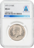 Explorers:Space Exploration, Coins: 1971-D 50¢ MS61 NGC Kennedy Half Dollar Directly From The Armstrong Family Collection™, CAG Certified....
