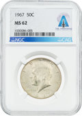 Explorers:Space Exploration, Coins: 1967 50¢ MS62 NGC Kennedy Half Dollar Directly From The Armstrong Family Collection™, CAG Certified. ...