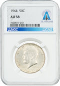 Explorers:Space Exploration, Coins: 1964 50¢ AU58 NGC Kennedy Half Dollar Directly From The Armstrong Family Collection™, CAG Certified....