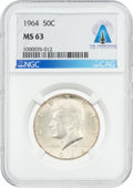 Explorers:Space Exploration, Coins: 1964 50¢ MS63 NGC Kennedy Half Dollar Directly From The Armstrong Family Collection™, CAG Certified. ...