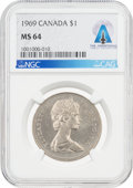 Explorers:Space Exploration, Coins: Canada 1969 $1 MS64 NGC Dollar Directly From The Armstrong Family Collection™, CAG Certified. ...