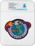 Explorers:Space Exploration, Patches: Apollo 7 Lion Brothers Embroidered Mission Insignia Patch, Purple Twill Variant, Directly From The Armstrong Fami...