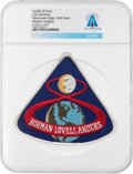 Explorers:Space Exploration, Patches: Apollo 8 Lion Brothers Embroidered Mission Insignia Patch Directly From The Armstrong Family Collection™, CAG Cer...