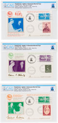 """Explorers:Space Exploration, Giant Leap World Tour 10/16 (Vatican City): Set of Three """"Visit to H.H. Pope Paul VI of the Astonauts"""" Covers by KimCover Dire... (Total: 3 Items)"""