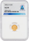 Explorers:Space Exploration, Coin: 1852-O AU58 NGC $1 Gold Liberty Head Coin Directly From The Armstrong Family Collection™, CAG Certified. ...