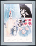 """Explorers:Space Exploration, Robert L. Rasmussen Signed Limited Edition """"Naval Aviation in Space"""" Print, Neil Armstrong's Presentation Copy, Signed by Nine..."""