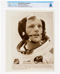 "AP Original Wirephotos: ""Preparing for Moon Walk"" July 16, 1969, Directly From The Armstrong Family Collection..."