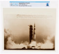 """Explorers:Space Exploration, AP Original Wirephotos: """"Liftoff to the Moon"""" July 16, 1969, Directly From The Armstrong Family Collection™, CAG Certified..."""