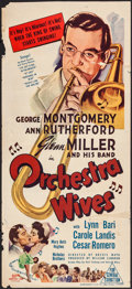 "Movie Posters:Musical, Orchestra Wives (20th Century Fox, 1943). Folded, Fine+. Australian Daybill (13.25"" X 29.25""). Musical.. ..."