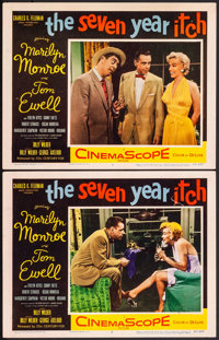 """The Seven Year Itch (20th Century Fox, 1955). Very Fine-. Lobby Cards (2) (11"""" X 14""""). Comedy. ... (Total: 2 I..."""