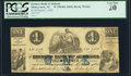 Montgomery, AL- Farmers Bank of Alabama $1 Mar. 1, 1862 PCGS Very Fine 20